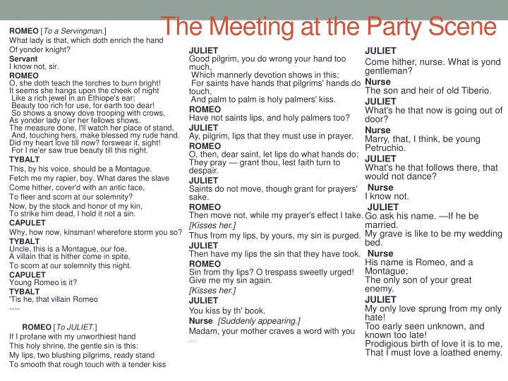 The Meeting at the Party Scene