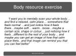 body resource exercise