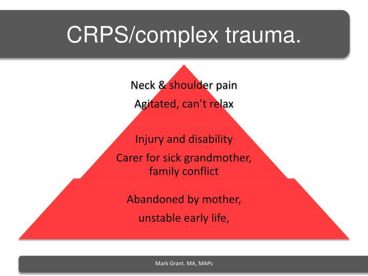 CRPS/complex trauma.