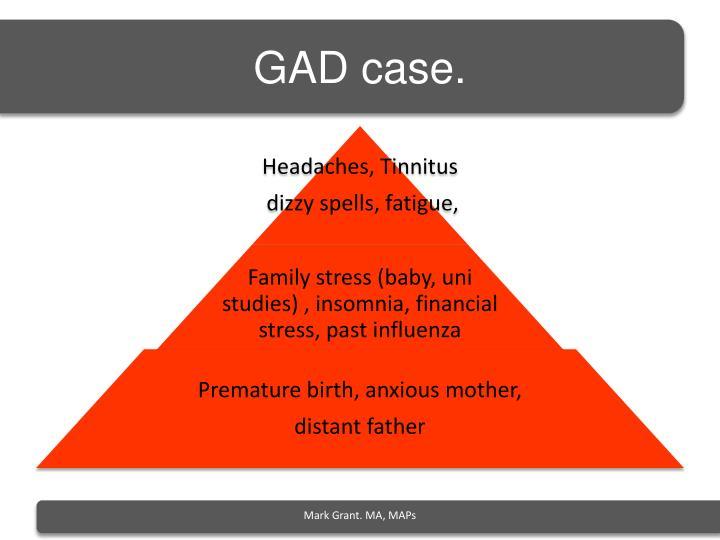 GAD case.