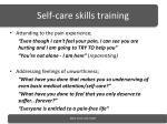 self care skills training