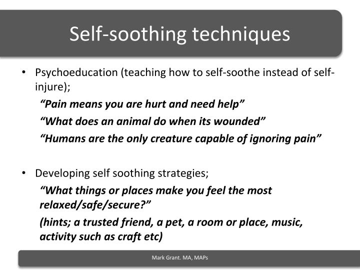 Self-soothing techniques