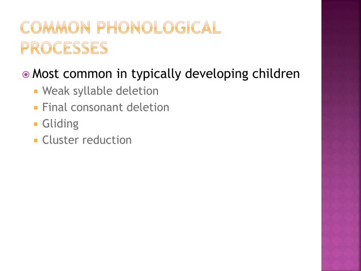 Common Phonological Processes