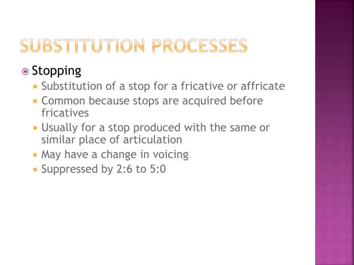 Substitution Processes