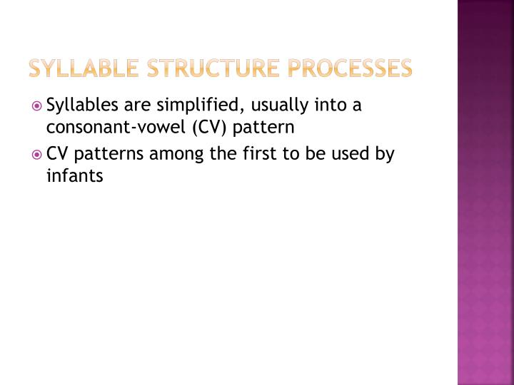 Syllable Structure Processes