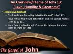 an overview theme of john 13 love humility greatness5