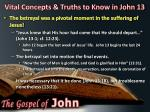 vital concepts truths to know in john 13