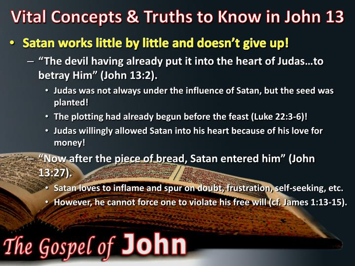 Vital concepts truths to know in john 131