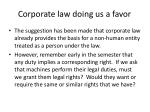 corporate law doing us a favor
