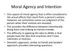 moral agency and intention