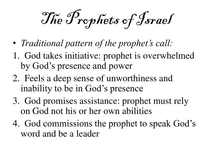 The prophets of israel1