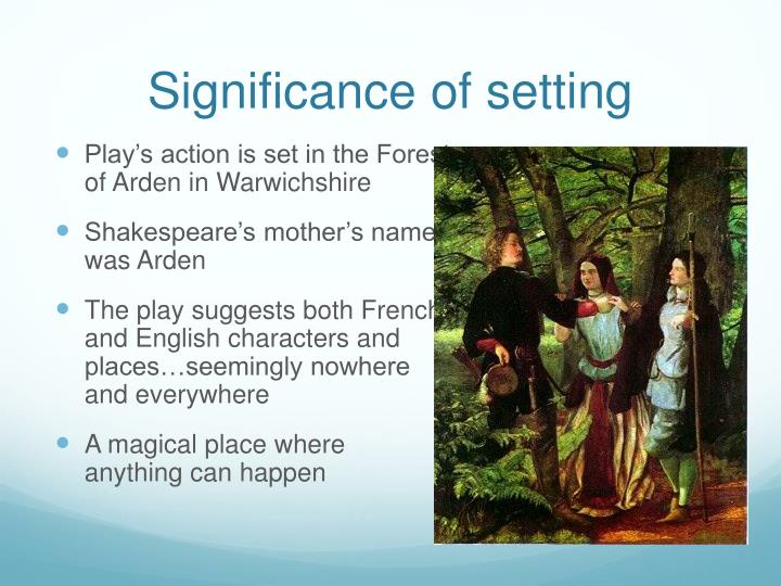 Significance of setting