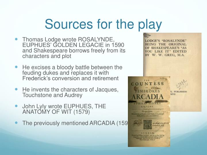 Sources for the play
