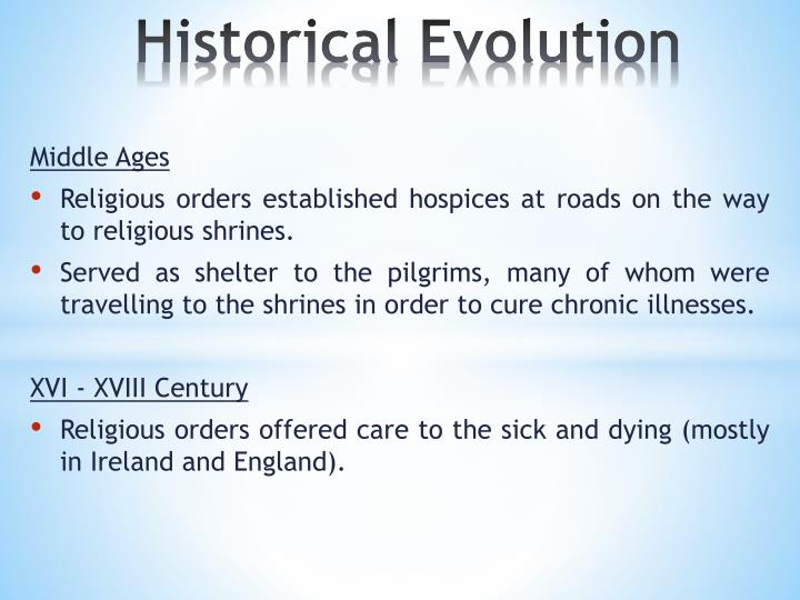 Historical evolution