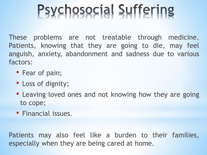 Psychosocial Suffering