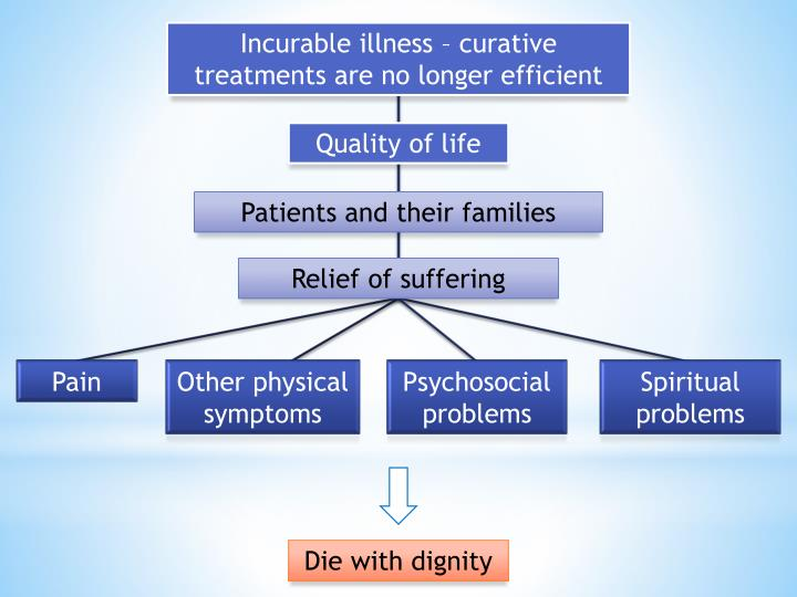 Incurable illness – curative treatments are no longer efficient