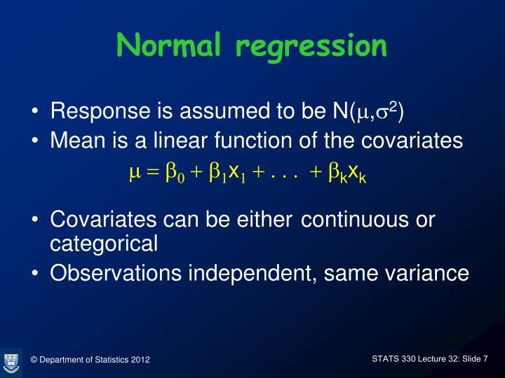 Normal regression