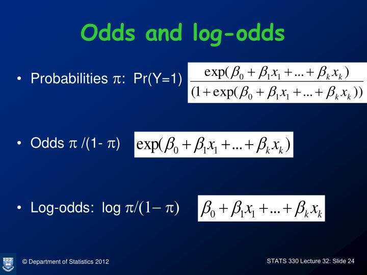 Odds and log-odds