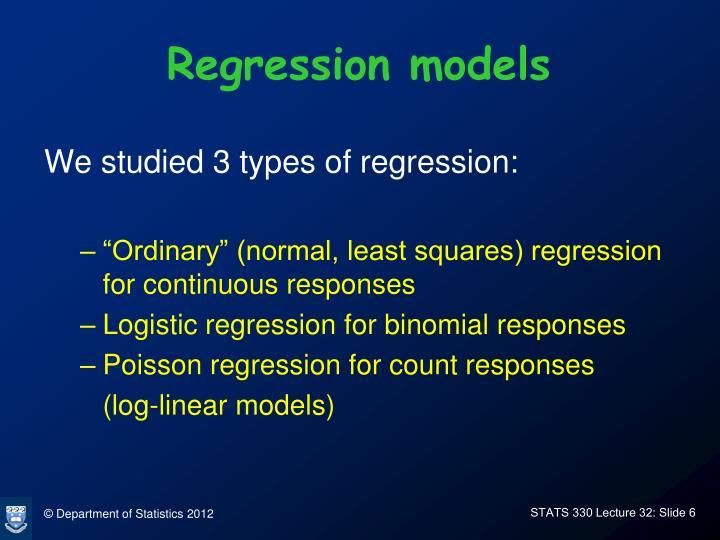 Regression models