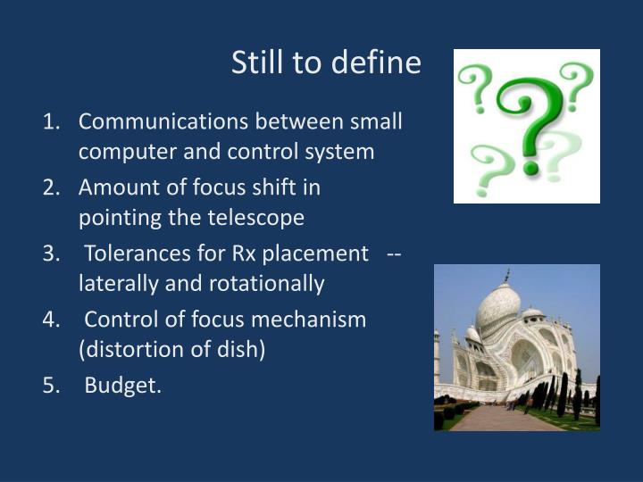 Communications between small computer and control system