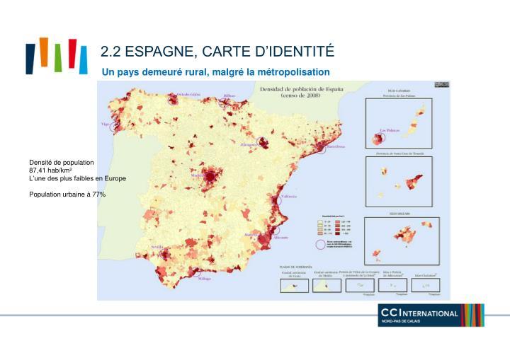2.2 Espagne, carte d'identité
