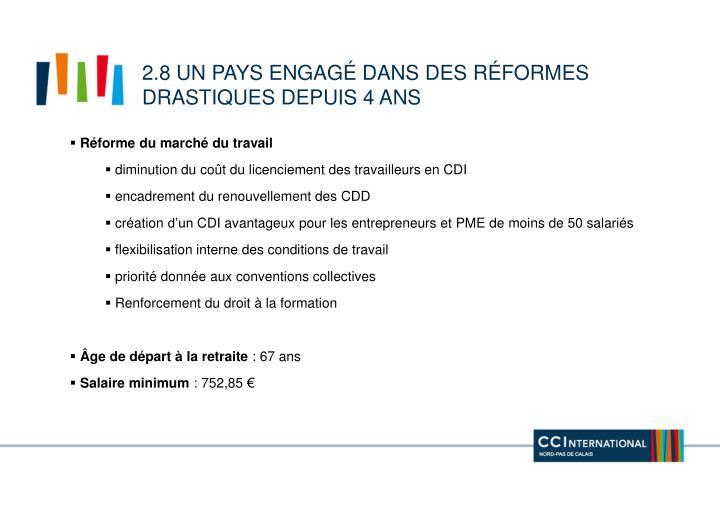 2.8 un pays engagé dans des réformes drastiques depuis 4 ans