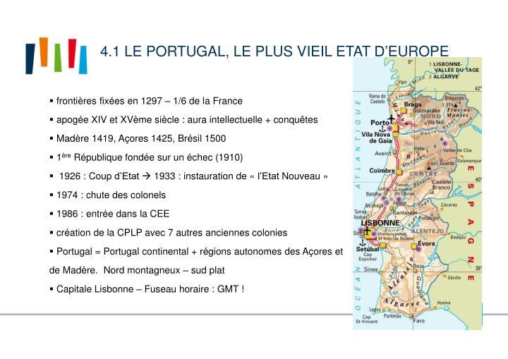 4.1 Le Portugal, le plus vieil