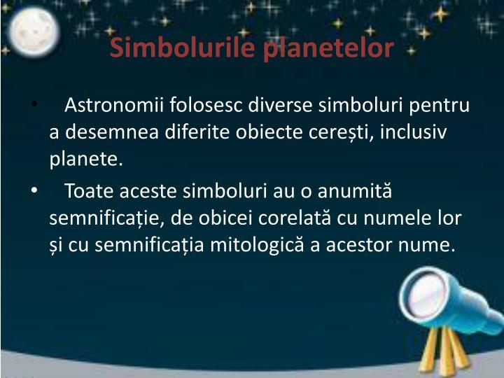 Simbolurile planetelor