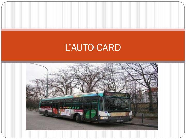 L'AUTO-CARD