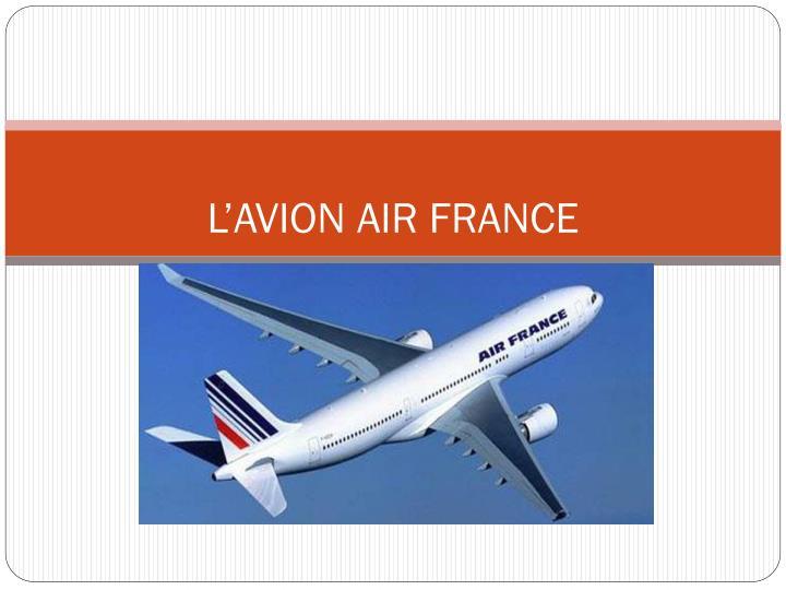 L'AVION AIR FRANCE
