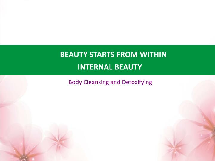 BEAUTY STARTS FROM WITHIN