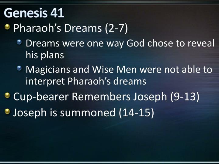 Genesis 41