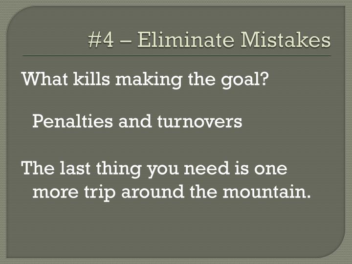 #4 – Eliminate Mistakes