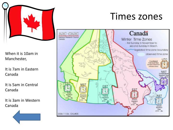 Times zones