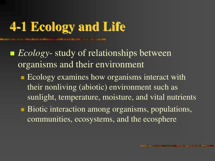 4 1 ecology and life