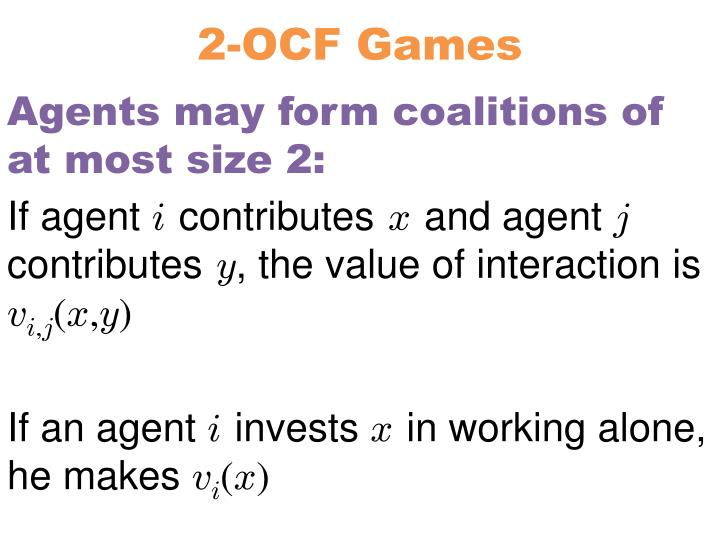 2-OCF Games