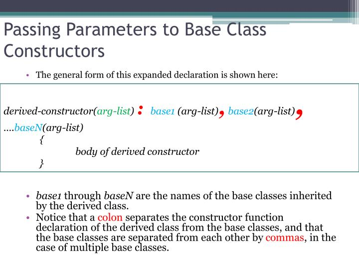 Passing Parameters to Base Class Constructors
