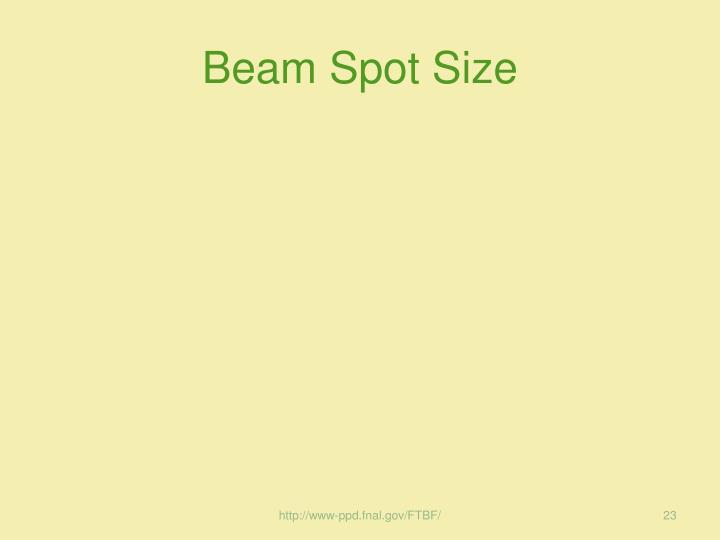 Beam Spot Size