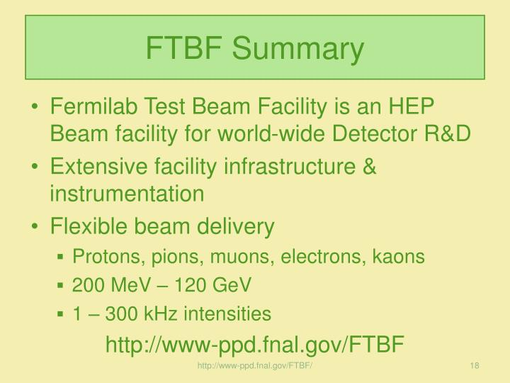 FTBF Summary