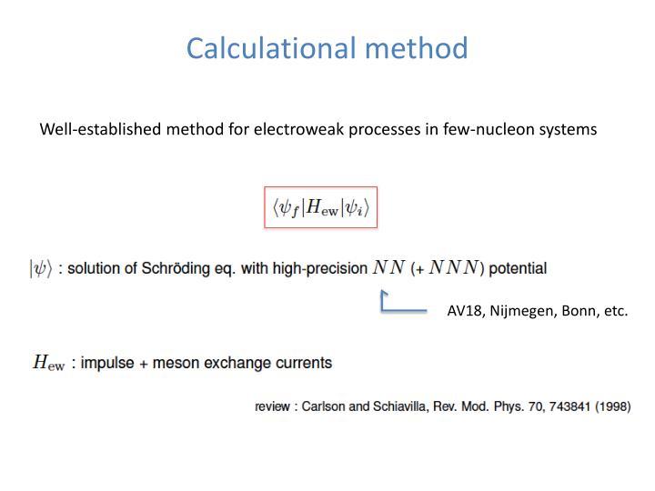 Calculational