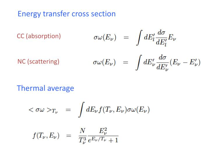Energy transfer cross section