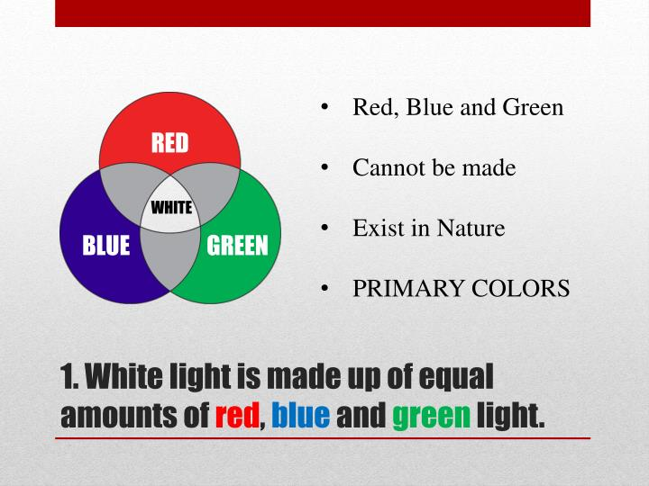 Red, Blue and Green