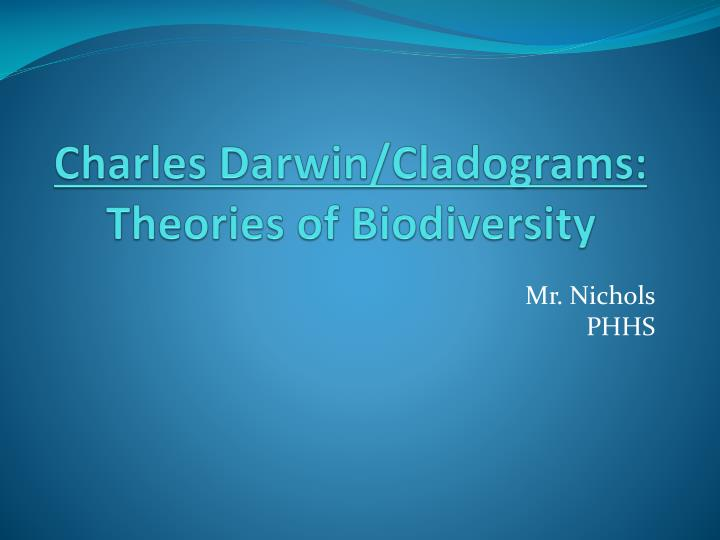 Charles darwin cladograms theories of biodiversity