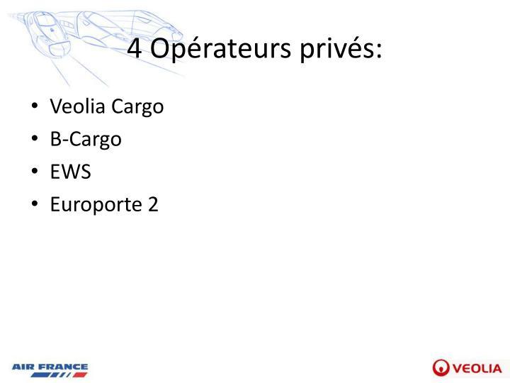 4 Opérateurs privés:
