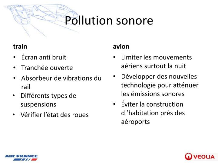 Pollution sonore