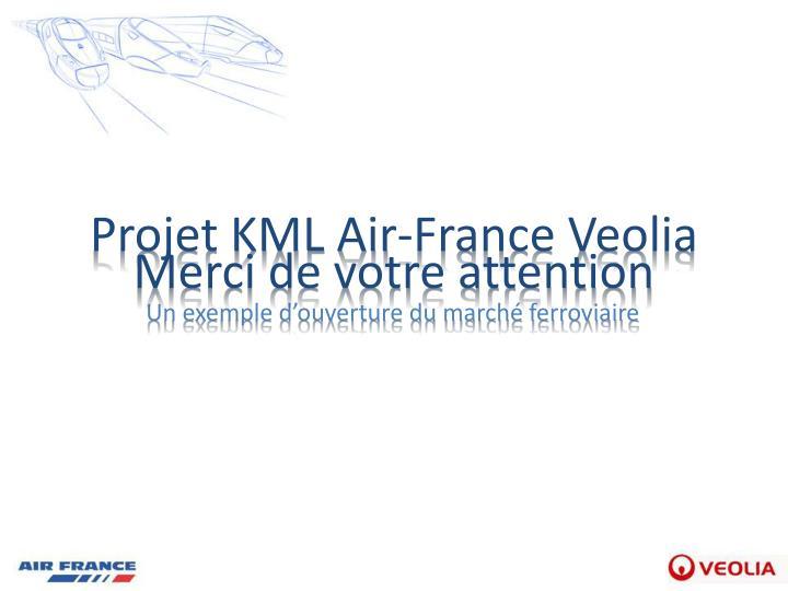 Projet KML Air-France Veolia