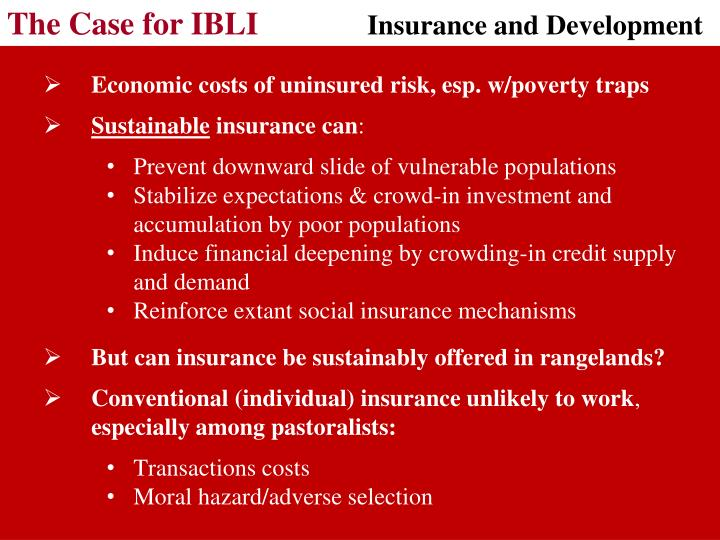 The Case for IBLI