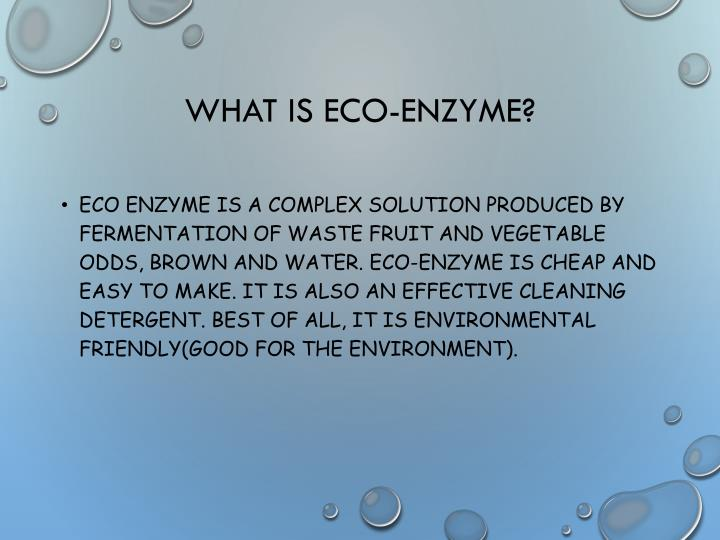 What is eco enzyme