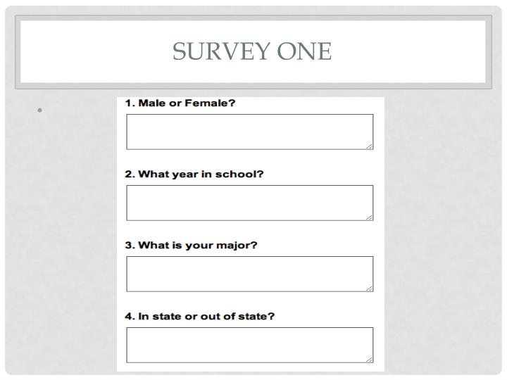 Survey one