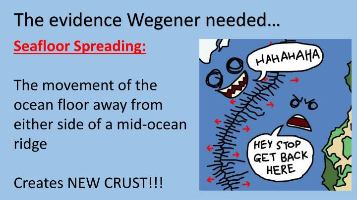 The evidence Wegener needed…